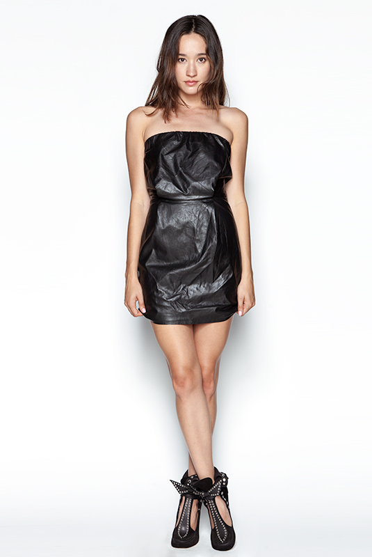 Faux Leather Tube Dress